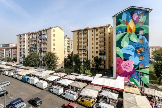 Un murale a Quarto Oggiaro per i sessant'anni del quartiere [fonte http://www.repstatic.it]