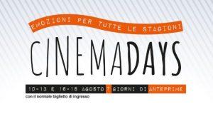 Cinema Days a Milano: una settimana di novità ad agosto!