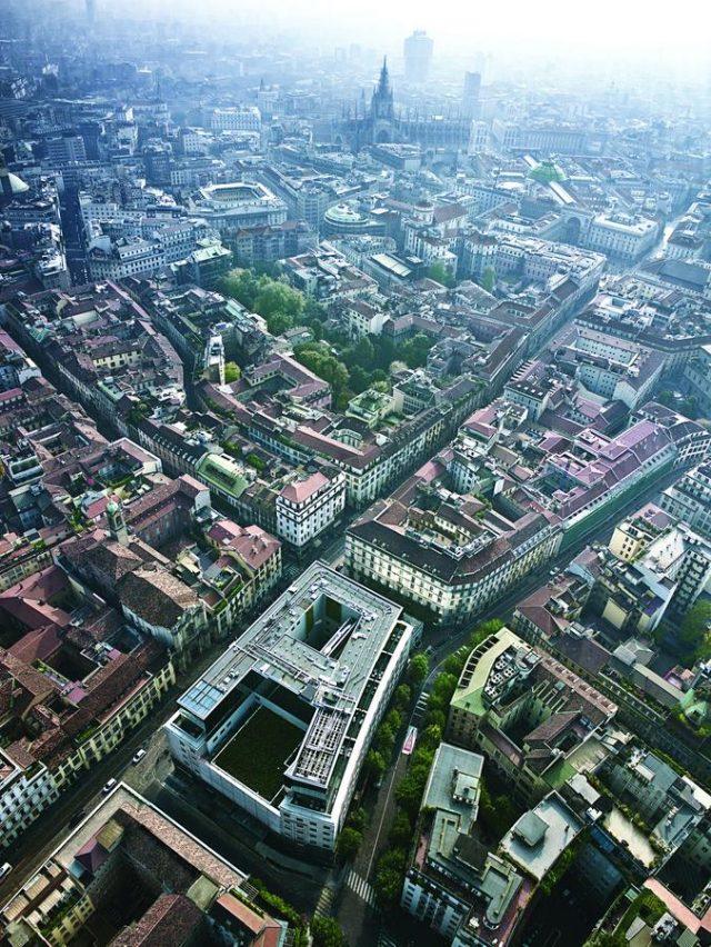 La strana forma dell'Hotel Armani a Milano