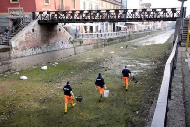 Milano, al via il calendario di asciutte dei Navigli