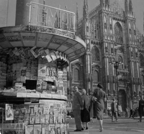 Le prime edicole italiane a Milano furono in Piazza Duomo e in Piazza San Babila!